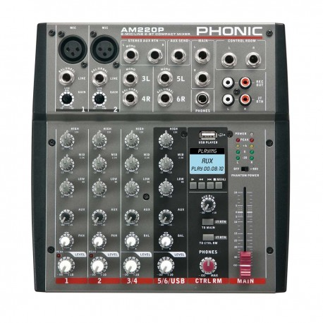 PHONIC AM220P MP3 Mikser