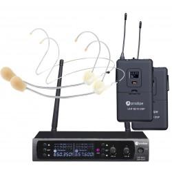 Prodipe UHF B210 duo system bezprzewodowy nagłowny x2