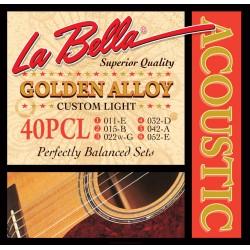 LA BELLA 40-P Struny do gitary akustycznej