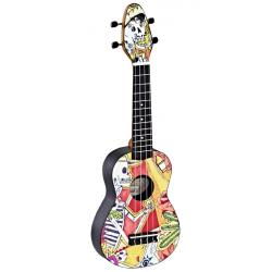 KEIKI K2-EM ukulele sopranowe z akcesoriami