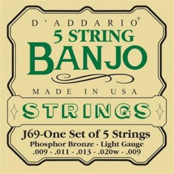 D'Addario J 69 Struny do banjo