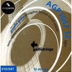 GALLI AGP1047 Struny do gitary 12 strunowej