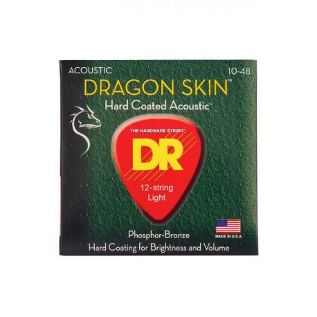 DR DSA 12/10-48 DRAGON SKIN 12-str struny do gitary 12-strunowej