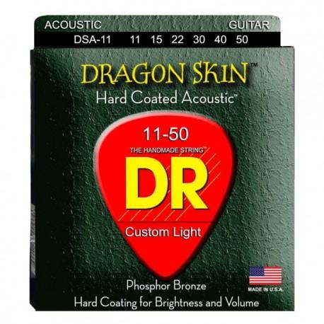 DR DSA-11/11-50 DRAGON SKIN struny do gitary akustycznej
