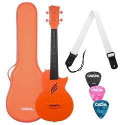 CASCHA Carbon Fibre Set OR Ukulele koncertowe z pokrowcem